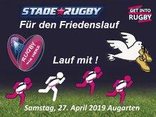 18. Österreichischen FRIEDENSLAUF, im Wiener AUGARTEN, mit Get Into Rugby