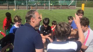 Great Rugby Clinic organised by Stade with Sergio Zorzi U21 Italian coach