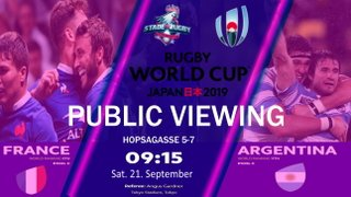 World Cup Japan 2019:  Argentina taking on France, Public Viewing mit Stade