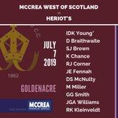 Scottish Cup Quarter Final: Heriot's vs McCrea West of Scotland