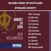 Stirling County vs McCrea West of Scotland