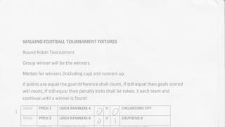 Walking Football v Leigh-on-Sea Tournament - 21st August 2016