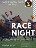 Cobra Race Night  (Thurs 18-04-19)