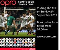 OPRO to visit BJB on Sunday 8th September 2019