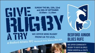 Give Rugby a Try at Bedford Junior Blues