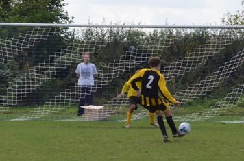 Ollie McCabe misses his penalty