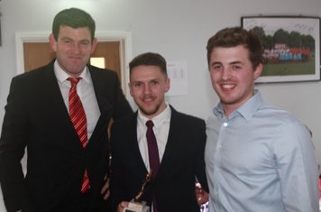 Michael Owen, Will Ray (1st team player of the year) & Richard Leather