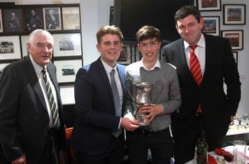 Jim Riddle, Hugh Cavener, Max Lawrance (shared young player of the year) & Michael Owen