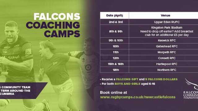 Newcastle Falcons Kids Easter Camp