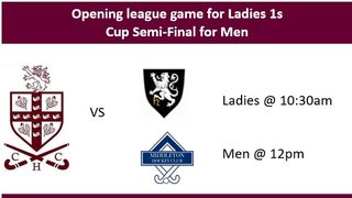 Come and support the Ladies 1s and Men's 1s