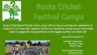 Bucks Cricket Festival Camp @ The CCG