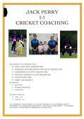 Jack Perry Cricket Coaching