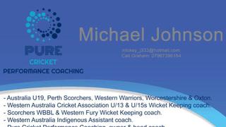 Mike Johnson Cricket Coaching