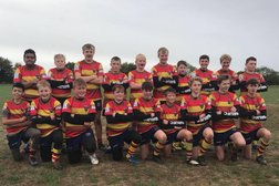 Bicester U14's shown a rugby lesson