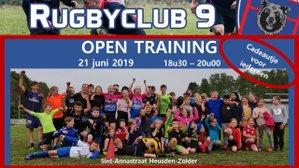 Nieuwe open training op 21 juni