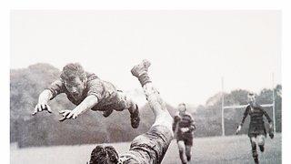 Noel Henson diving for the ball