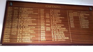 First XI Captains' Board