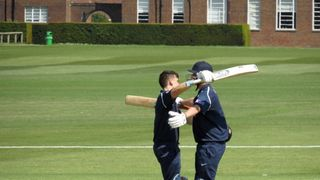 Joe and Luke playing for Middlesex