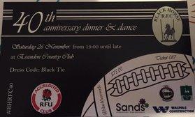Black Horse RFC 40th Anniversary Dinner
