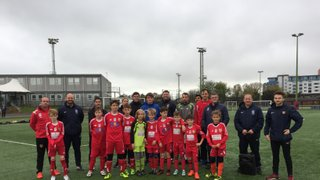 Stubbington Youth FC help the RNFA deliver coaching during half term week!
