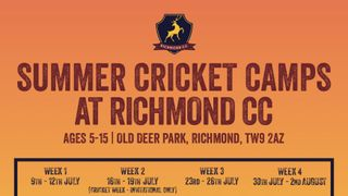 Cricket Camps are on - spaces available