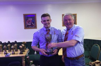 Young Player of the year Connor Orrell - Presented by Ducnan Trench Club Treasurer