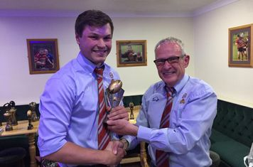 Ben Cottam Trainer of the year - Presented by ave Crounch