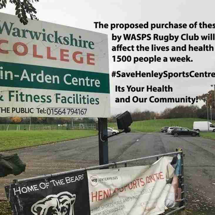 Henley Sports Centre - A Message from Brent Wishart