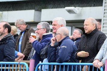 Happy faces on the terraces