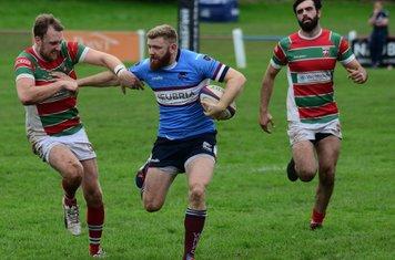 Jamie breaks tackle