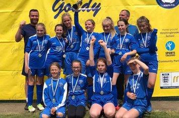 U12 Girls trophy presentation
