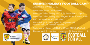 Book now for our Summer Holiday Football Camp