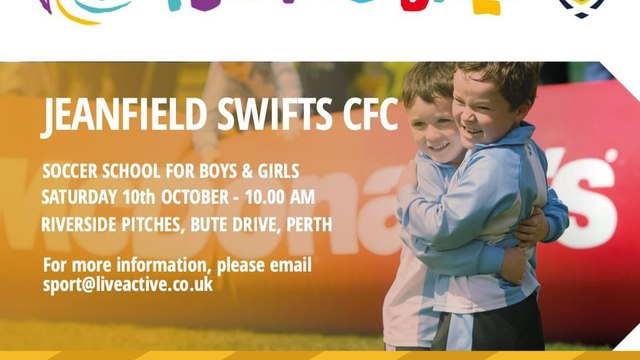 Free football at Swifts Saturday Soccer School for 2020