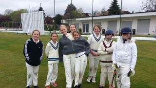 North Midd's first match in the MCA Under 13 Girls League