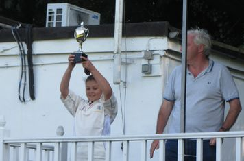 North Midd Captain with the County trophy