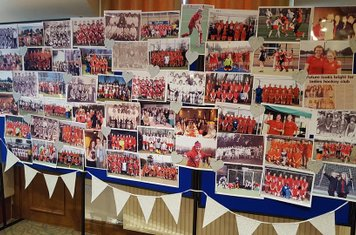 'Wall of Nostalgia' - teams and players across the years...  drew lots of memories