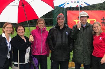 The team who made the new pitch happen.... Garstang Academy and Garstang Hockey New Pitch Sub Committee