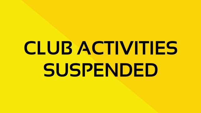 CLUB ACTIVITIES CURRENTLY SUSPENDED UNTIL 30 JUNE