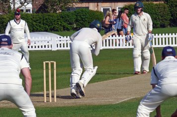 Rob Sehmi batting with Tom Forster