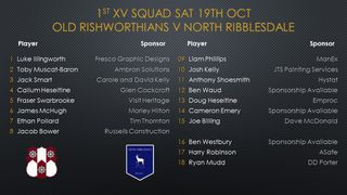 First team line up Sat 19th