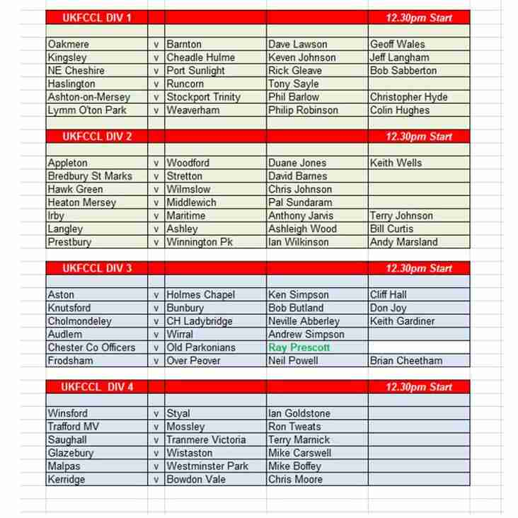 Umpire Appointments 14 September