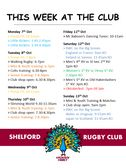 This week at the club....