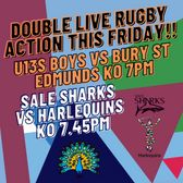 Double Live Rugby Action This Friday Night!!