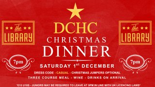 Christmas Dinner - Saturday 1st December