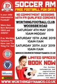 WORTHING DYNAMOS SOCCER AM 2019!  - free taster sessions for 5/6 year olds