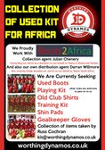 Collection Of Used Kit For Africa