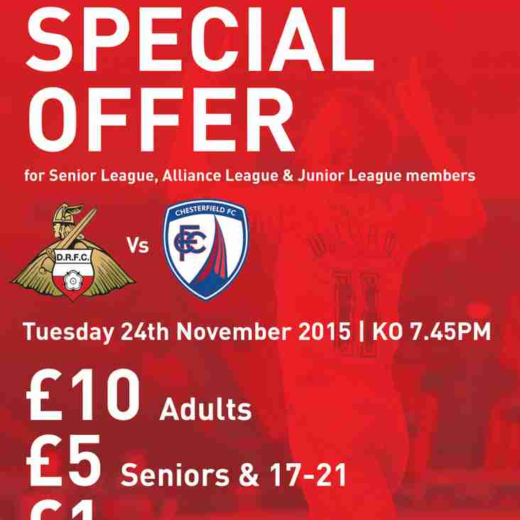 Offer For Rovers v Chesterfield For All Local Football Clubs