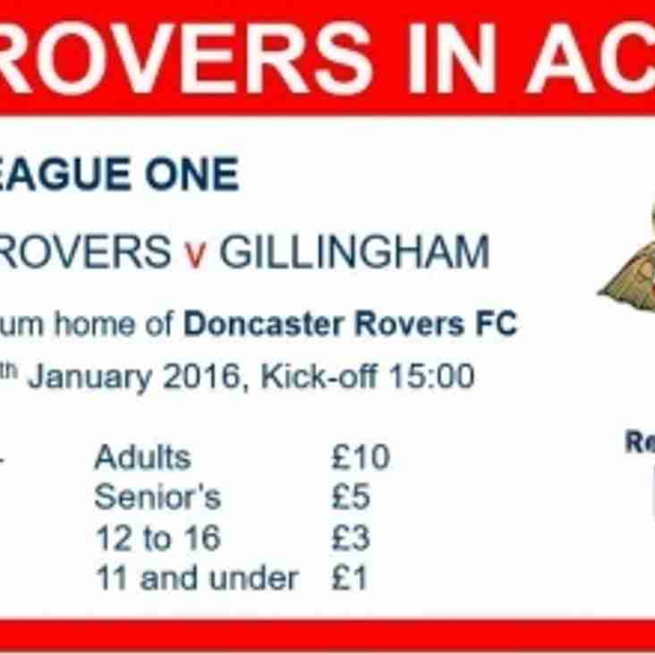 Doncaster Rovers v Gillingham RESPECT Offer