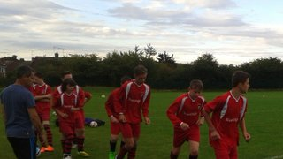 Training in new red kit