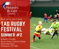 Primary Tag Rugby Festival this Sunday